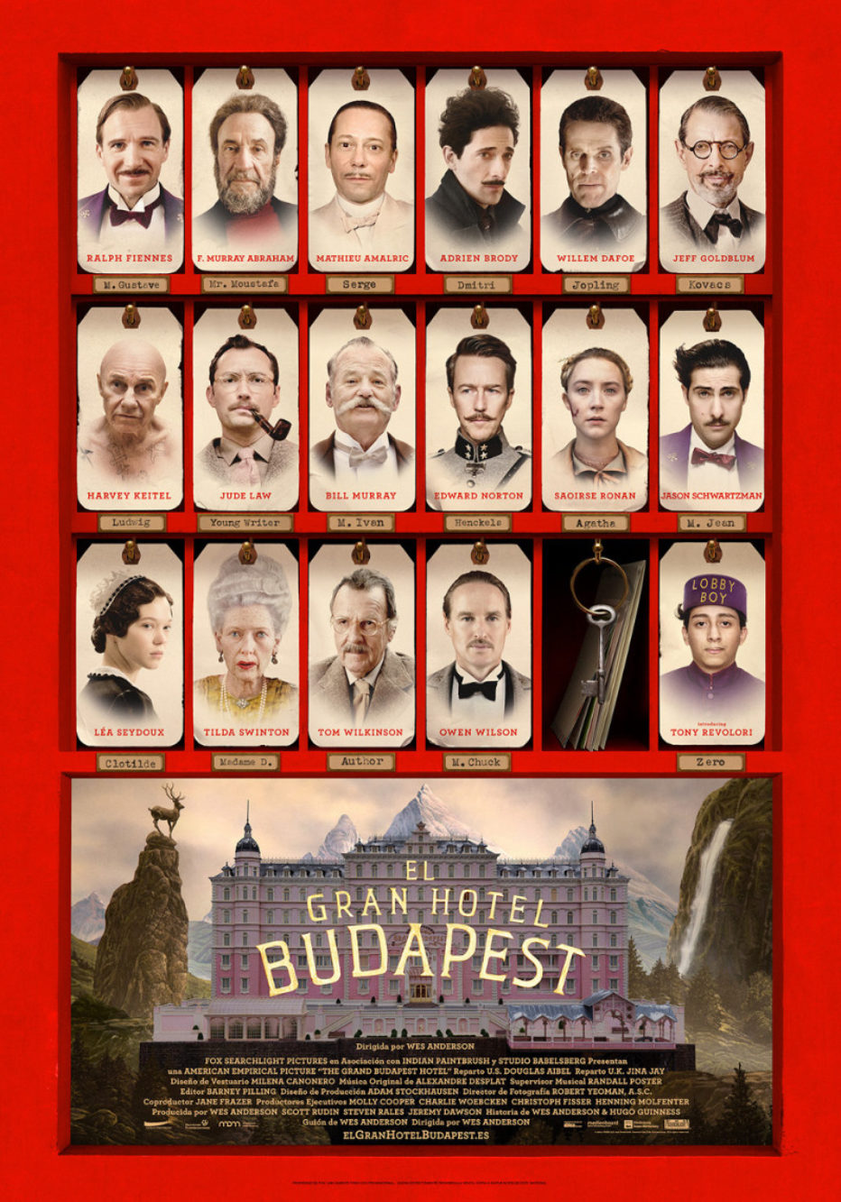 El Gran Hotel Budapest: divertimento clásico