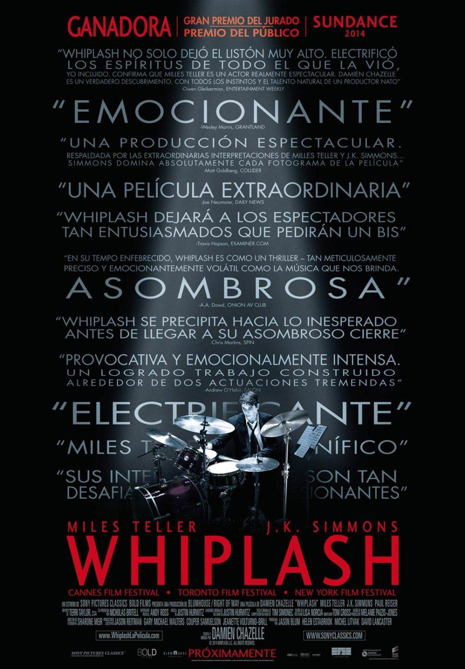 Whiplash, la música con sangre entra