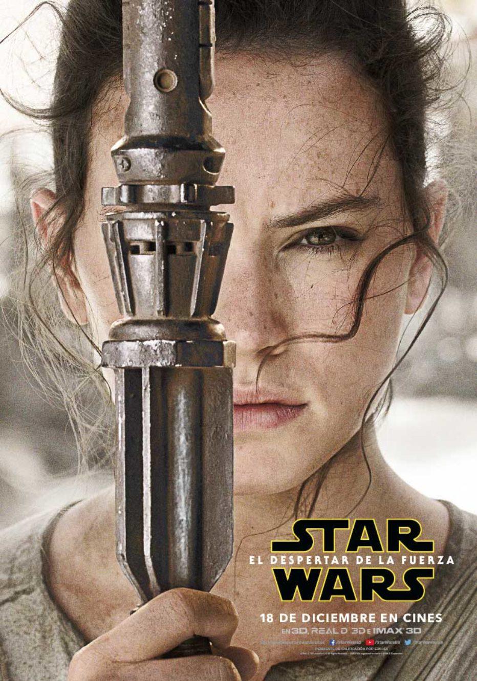 Posters individuales de Star Wars: El despertar de la fuerza