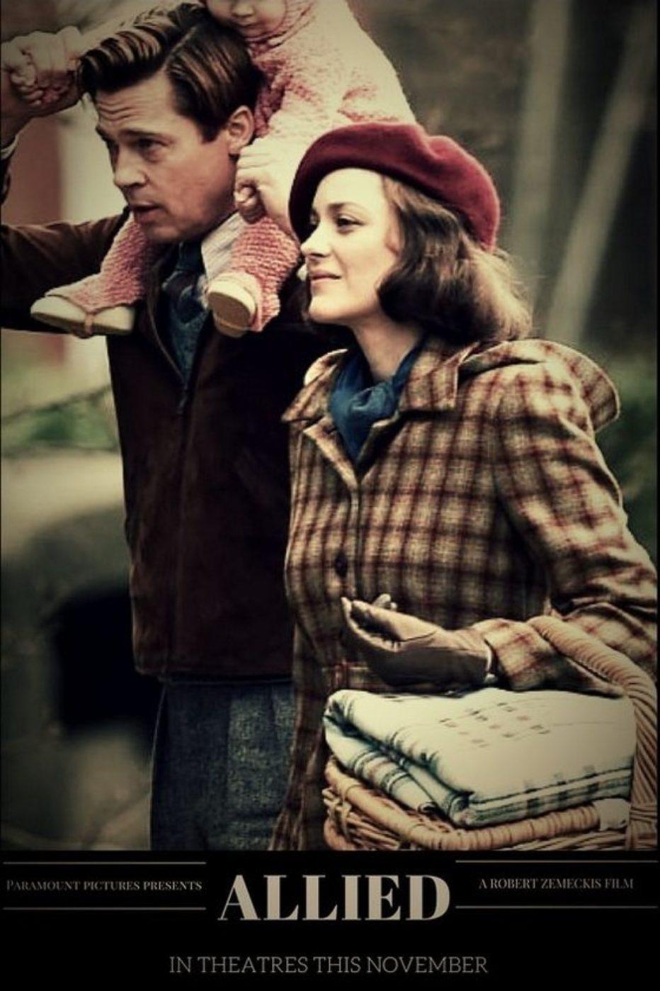 Primer trailer de «Aliados». Zemeckis dirige a Brad Pitt y Marion Cotillard