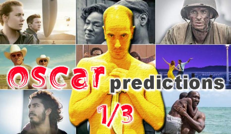 Predicciones para los Oscar 1/3 – Guión original, Guión adaptado y Edición
