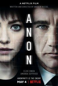 """Poster de la película """"Anon"""""""