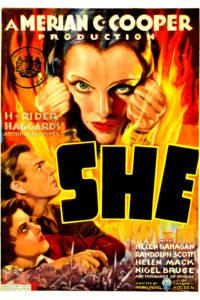 """Poster de la película """"She, La diosa del fuego"""""""